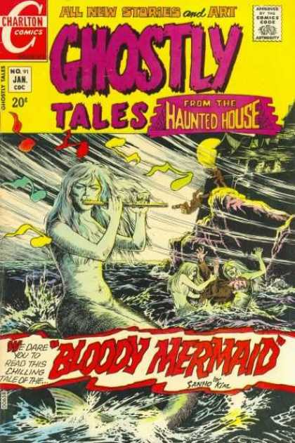 Ghostly Tales 91 - Charlton - January - 20 Cents - From The Haunted House - Flute - Sanho Kim