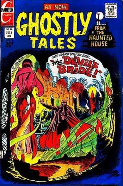 Ghostly Tales 96 - The Devils Bride - We Dare You To See - Lady Red Dress - White Glove - Devils Hand Raised