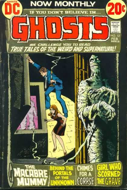 Ghosts 12 - Ghost Tales - Macabre Mummy - Chimes For A Corpse - Unknown Portals - Mummy Comics - Nick Cardy