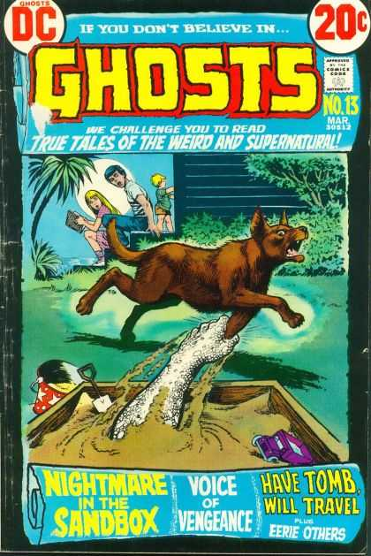 Ghosts 13 - Dog - Children - Sandbox - Ghosts Hand - Red Pall - Nick Cardy