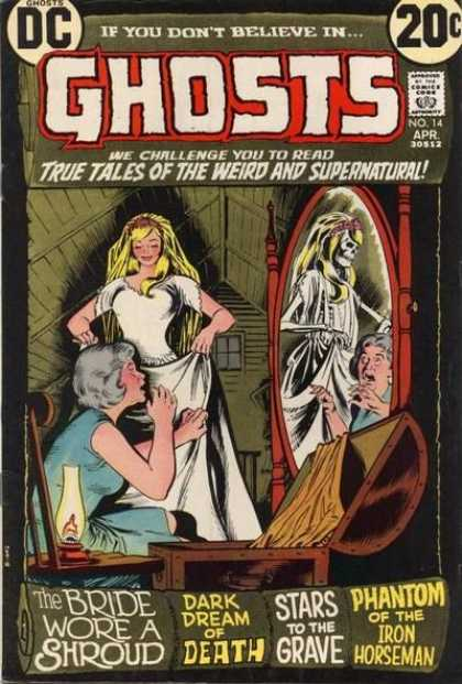 Ghosts 14 - Blonde - Skeleton - Wedding Dress - Chest - Lamp - Nick Cardy