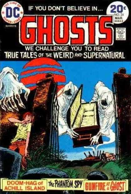 Ghosts 24 - Ghost - Coffin - Doom-hag Of Achill Island - The Phantom Spy - Gunfire At A Ghost - Nick Cardy