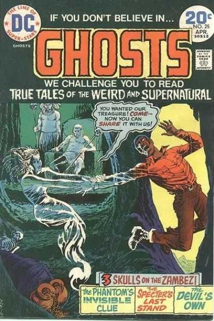 Ghosts 25 - Monsters - Scary Storys - Death - Gold - Adventure - Nick Cardy