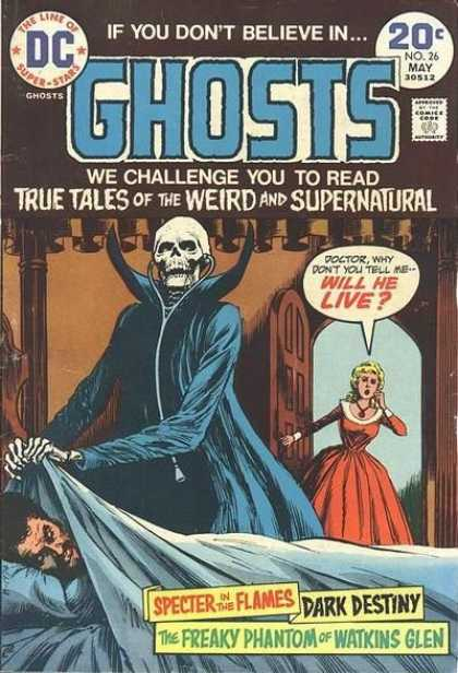 Ghosts 26 - Dc Comics - Supernatural - Skeleton - Freaky Phantom Of Watkins Glen - Dark Destiny - Nick Cardy