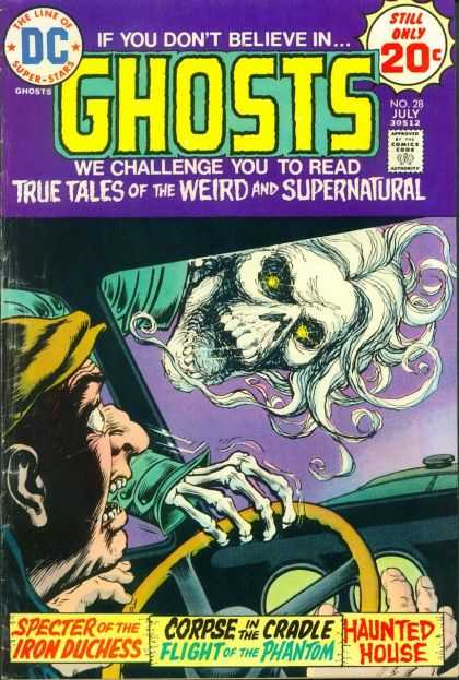 Ghosts 28 - Frightened Driver - Haunted House - Duchess - Spectre - Corpse - Nick Cardy
