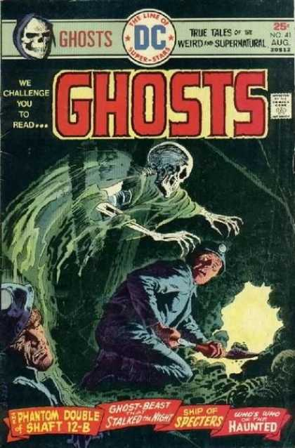 Ghosts 41 - Skull - We Challenge You To Read - Scared - Mine - Shovel - Luis Dominguez