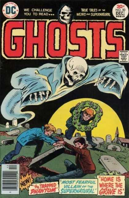 Ghosts 50 - True Tales - Weird And Supernatural - Dc Comics - The Trapped Phantom - Graveyard