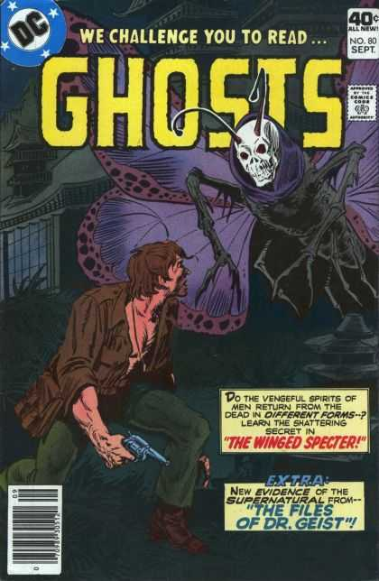 Ghosts 80 - Dc - We Challenge You To Read - Ghosts - The Winged Specter - The Files Of Dr Geist