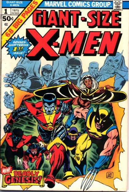 Giant Size X-Men 1 - Marvel Comics - Deadle Genesis - White Hair - Giant Size - Wolverine