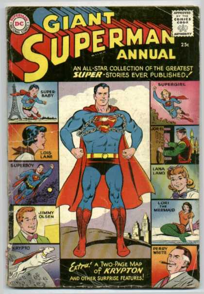 Giant Superman Annual 1 - Dc - Dc Comics - Superman - Krypton - Annual - Curt Swan