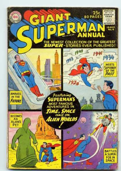 Giant Superman Annual 4 - Collection - Alien Pet - Superboy - Time Travel - Space Battles