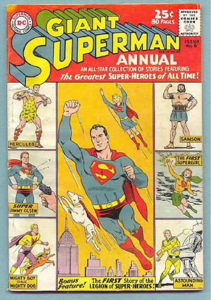 Giant Superman Annual 6 - First Legion - Super Jimmy Olsen - First Supergirl - Issue Number 6 - Samson