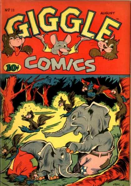 Giggle Comics 11 - Fat Elephant - Nut Hunter - Micky Mouse - Tommy Looty - Comic Books