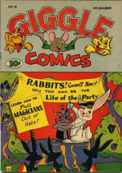Giggle Comics 14 - Rabbits - Magic - Hat - Party - Magicians
