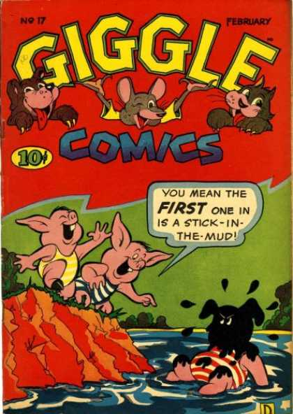 Giggle Comics 17 - February - Animals - Mouse - Cat - Pigs
