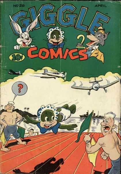 Giggle Comics 28 - Rabbit - Baby - Wolf - Airplanes - Landing