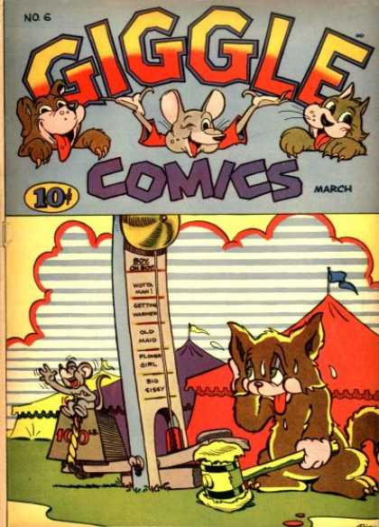 Giggle Comics 6 - Mouse - Dog - Cat - Sweating - Tent