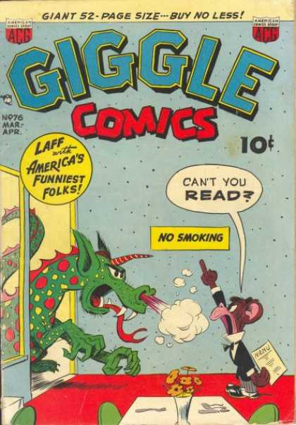 Giggle Comics 76 - Americas Funniest Folks - Polka Dots - Dragon - Waiter - Mouse