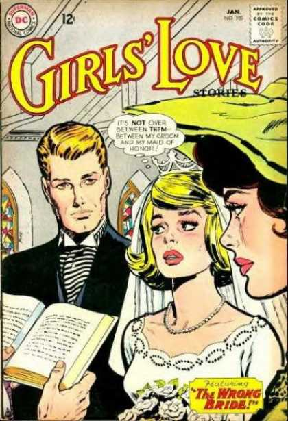 Girls' Love Stories 100 - The Wrong Bride - Reading Book - Man Tide Tie - Cap - Dwawing Cover