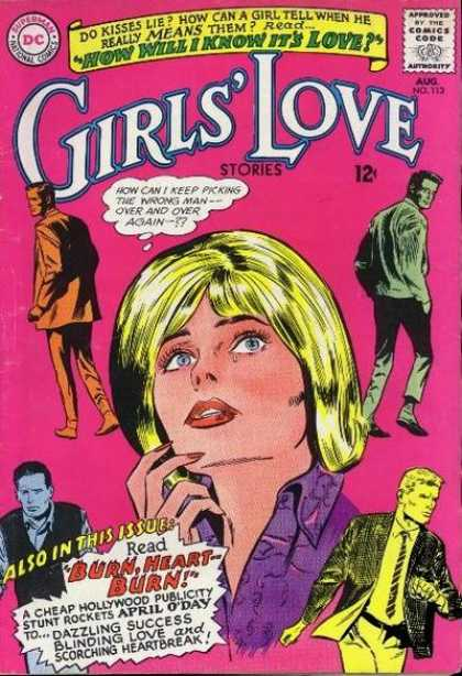 Girls' Love Stories 113 - Man - How Will I Know Its Love - Blonde Hair - Blue Eyes - Aug No113