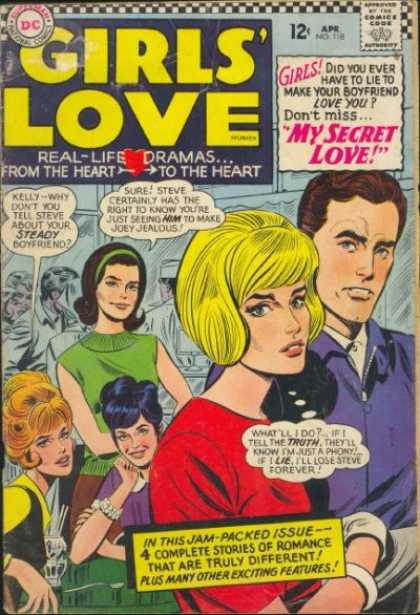 Girls' Love Stories 118 - Comics Code Authority - Speech Bubble - Thought Bubble - Boyfriend - Beehive Hairdo