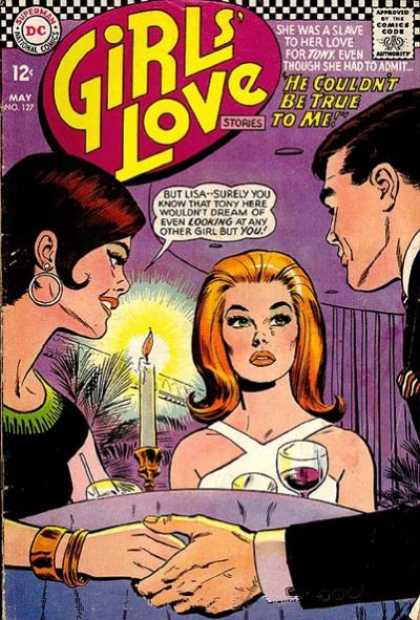 Girls' Love Stories 127 - Candle - Dc - May - Blonde - 12 Cents