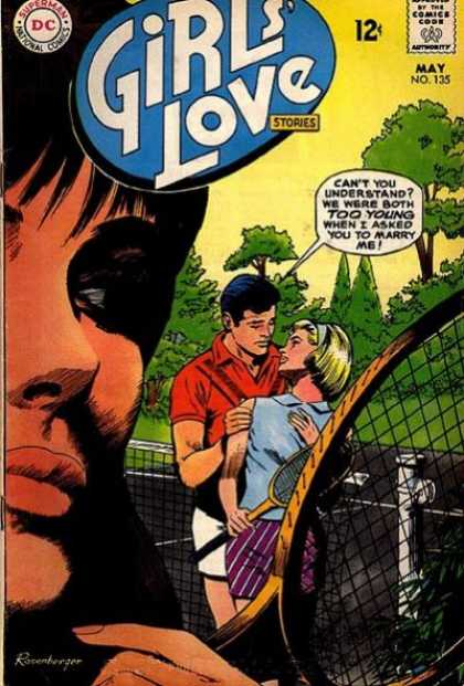 Girls' Love Stories 135 - Tennis Racket - Tennis Court - Marry - Too Young - Eavesdropping
