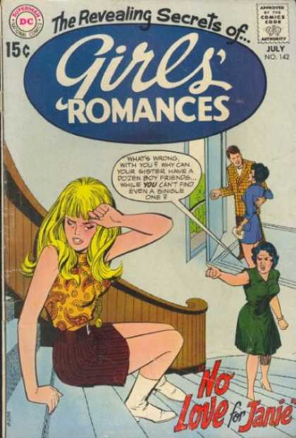 Girls' Love Stories 142 - Blonde Girl - Dates - Jealous - Gossip - Stairs