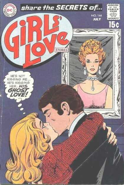 Girls' Love Stories 144 - Kiss - Painting - Superman - National Comics - Share The Secrets