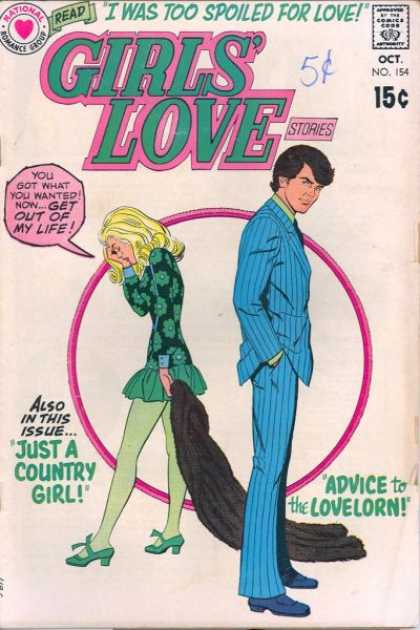 Girls' Love Stories 154 - Spoiled - Country - Advice - Lovelorn - Issue