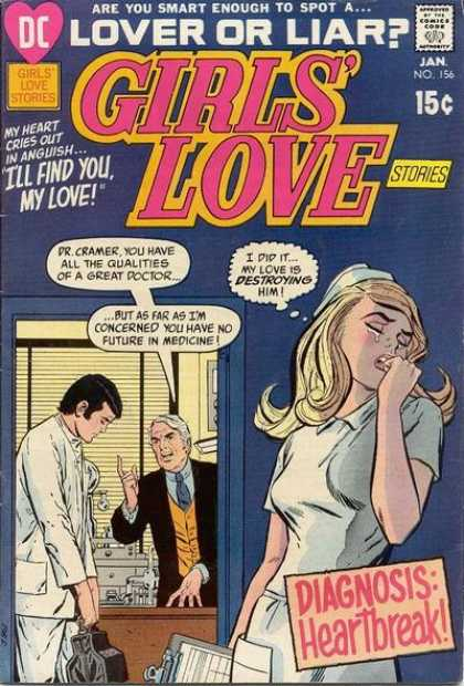 Girls' Love Stories 156 - Dc Comics - Girls Love Stories - Doctors - Lovers - Liars