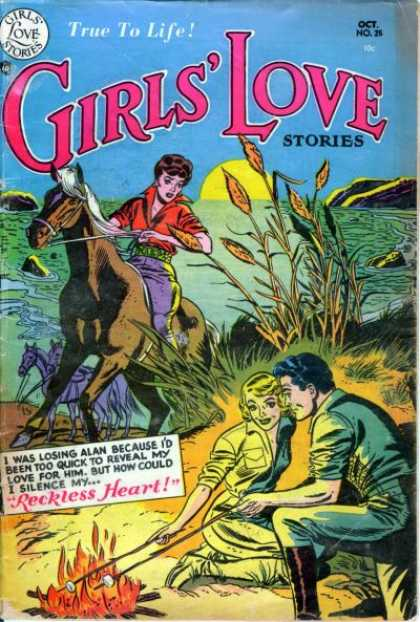 Girls' Love Stories 25 - Campfire - Sunset - Horse - Marshmallows - Reckless Heart