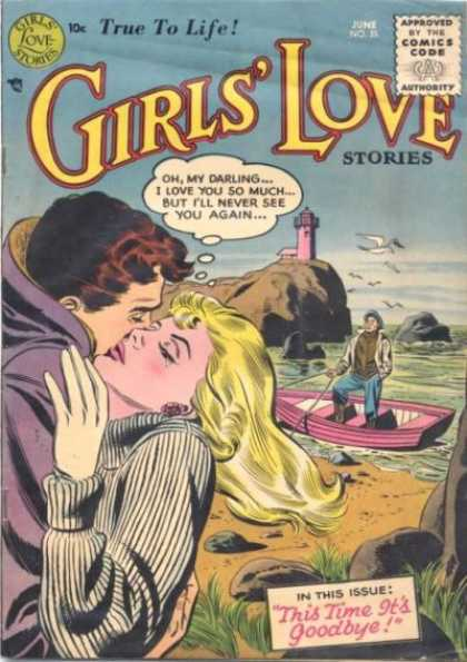 Girls' Love Stories 35 - Lighthouse - Kiss - Seagulls - Rowboat - This Time Its Goodbye