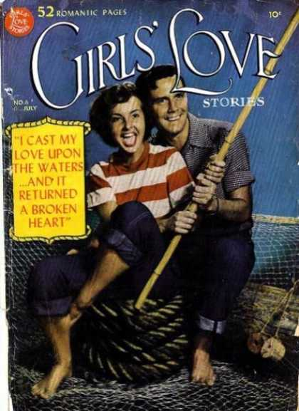 Girls' Love Stories 6 - Fishing - Rope - Pole - Net - 52 Romantic Pages