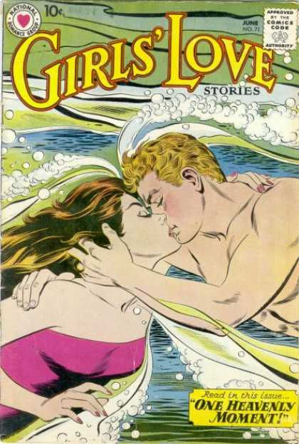 Girls' Love Stories 71 - Kiss - One Heavenly Moment - Swimming - Beach - Kissing