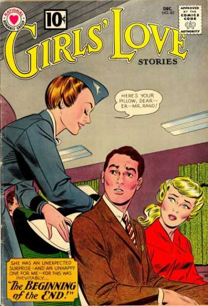 Girls' Love Stories 83 - Man - Woman - Flight Attendant - Curtain - Air Vent