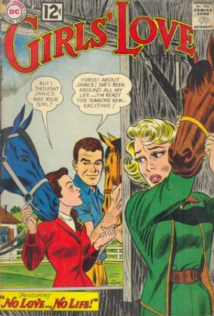 Girls' Love Stories 89 - Horse - Superman National Comics - Approved By The Comics Code - Woman - Man