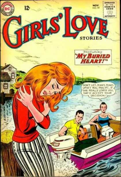 Girls' Love Stories 99 - Dock - Old School Styles - The Treasure No Man Had Yet Known - They Didnt Understand - Heartbreak On The Water