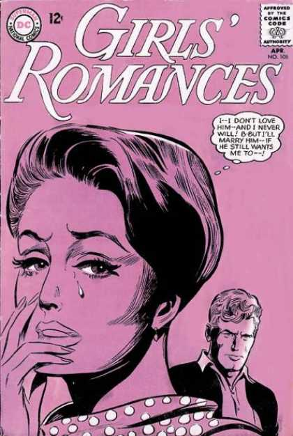 Girls' Romances 108 - Pink - Crying - Woman - Man - Tears