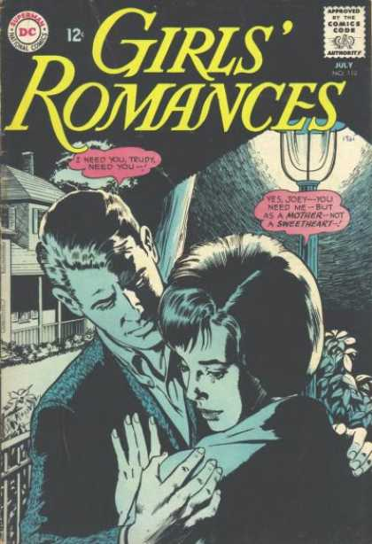 Girls' Romances 110 - Trudy - Joey - Embrace - Sweetheart - Lamp Post
