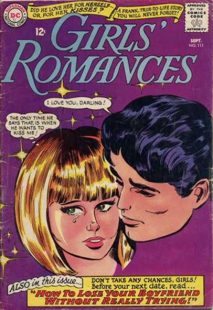 Girls' Romances 111 - Man - Lady - Cry - Tears - Comfort