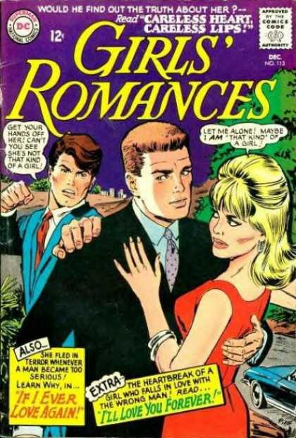 Girls' Romances 113 - Dc - Romance - Carless Heart - Careless Lip - Comics Code