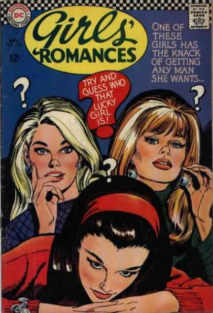 Girls' Romances 124 - Blonde - Lucky Girl - Questions - Brunette - Redhead