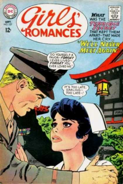 Girls' Romances 127 - Nurse - Soldier - Dc - 12 Cents - Speech Bubble