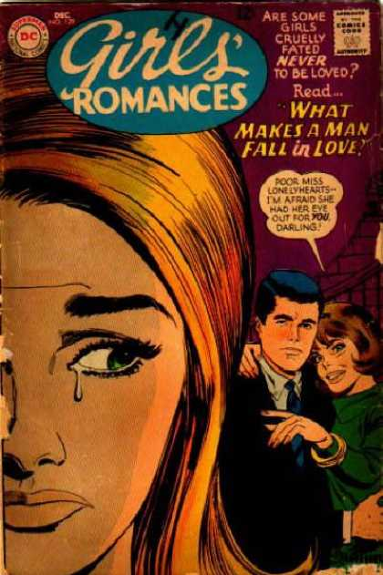 Girls' Romances 129 - Tear - Tear Drops - Mans Suit - Green Eyes - Green Dress