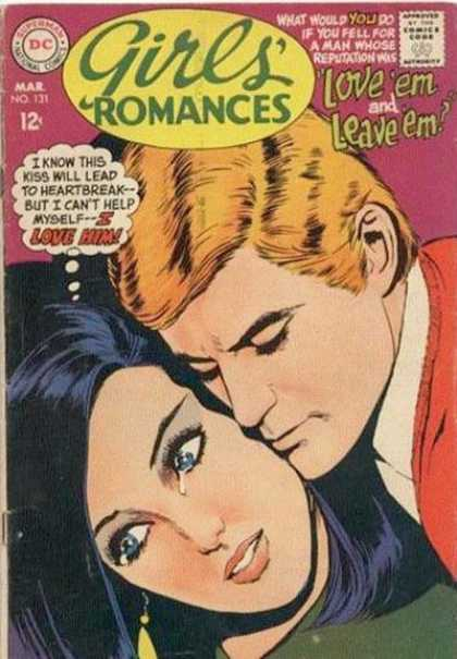 Girls' Romances 131 - Couple - Crying - Love Em Leave Em - Love - Romance
