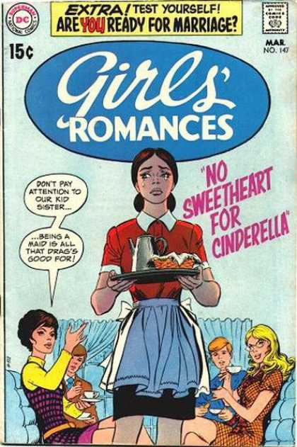 Girls' Romances 147 - Tears - No Sweetheart For Cinderella - Dc - 15 Cents - March
