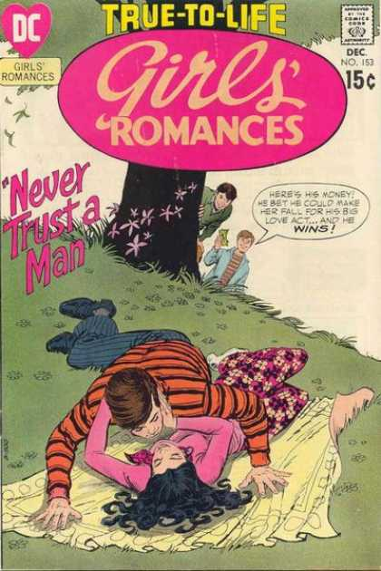 Girls' Romances 153 - Tree - Blanket - Romance - Picnic - Kissing