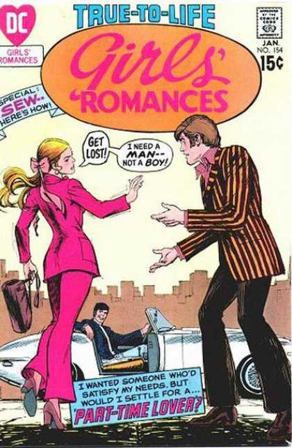 Girls' Romances 154 - Lost - Man - Boy - Special - Automobile
