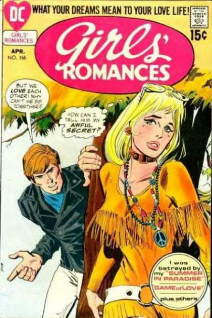 Girls' Romances 156 - Summer In Paradise - Love - Hippie - Beautiful Young Lady - What Your Dreams Mean To Your Love Life